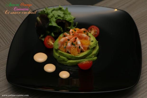 Avocat crevettes 1
