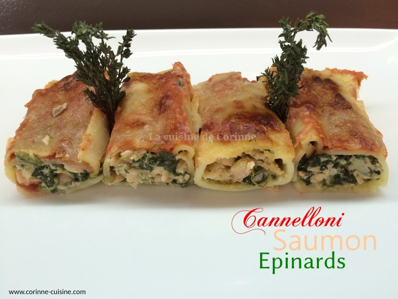 Cannelloni saumon épinards