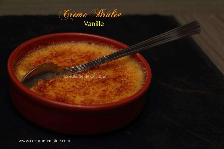 Crème brûlée vanille