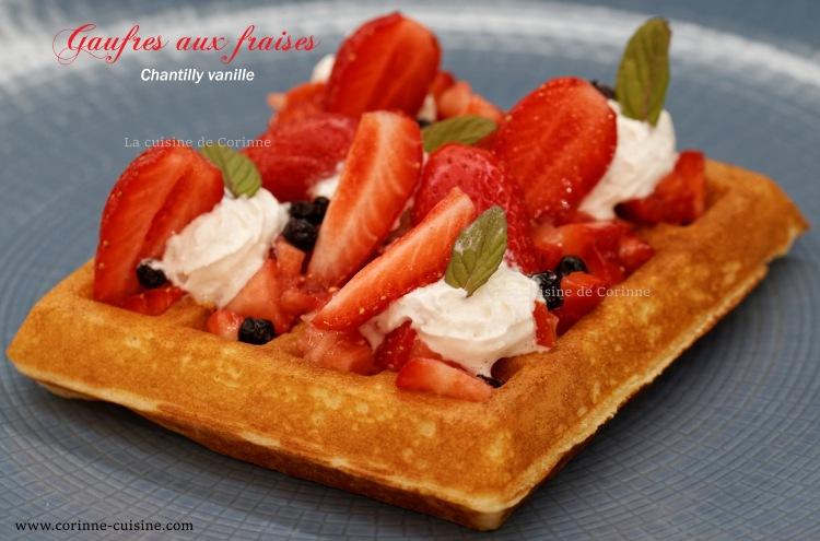 Gaufres fraises