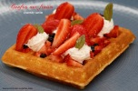 Gaufre aux fruits rouges