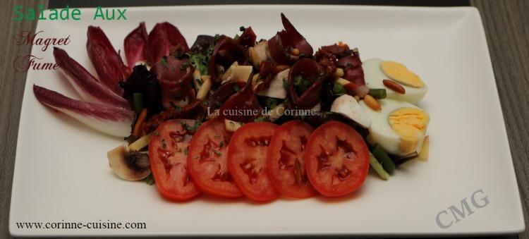 Salade magret fumé
