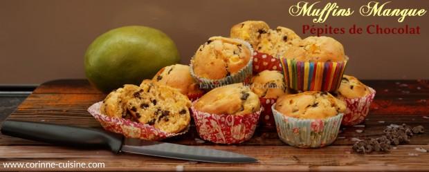 Muffins mangue chocolat