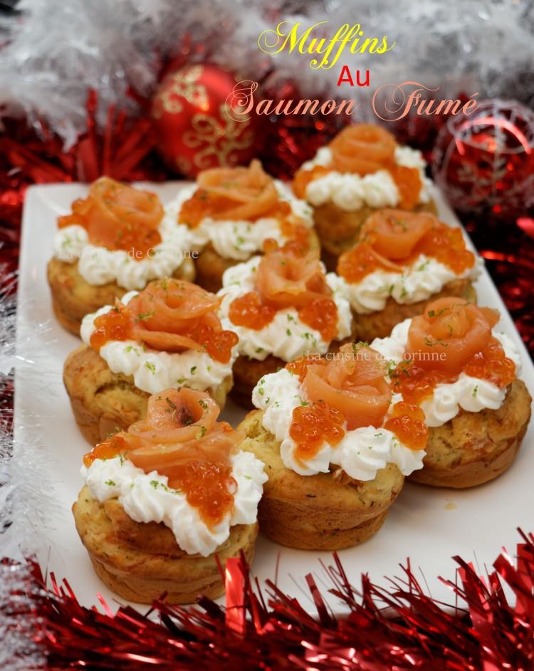 Muffins saumon fumé