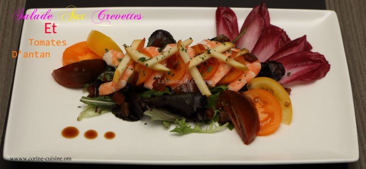 Salade aux crevettes