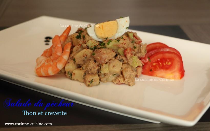 Salade thon et crevette