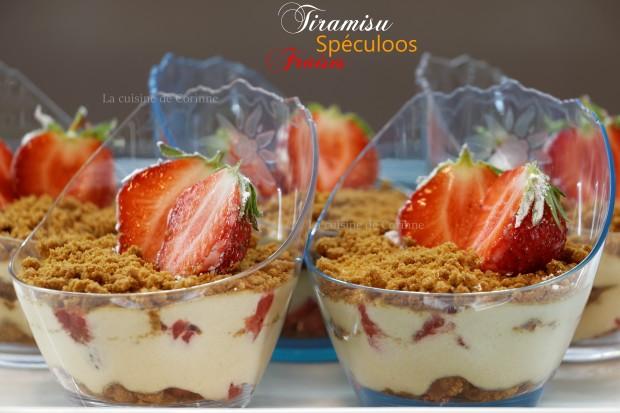 Tiramisu spéculoos fraises