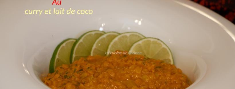 Dhal lentilles au curry coco