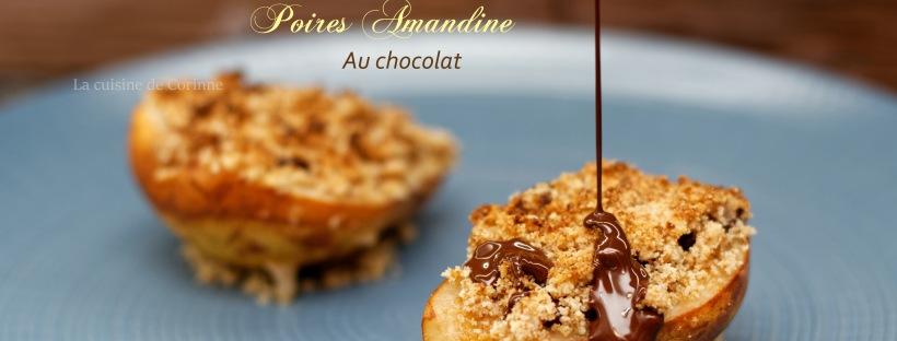 Poires amandine au chocolat