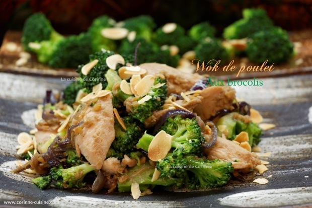 Wok poulet aux brocolis