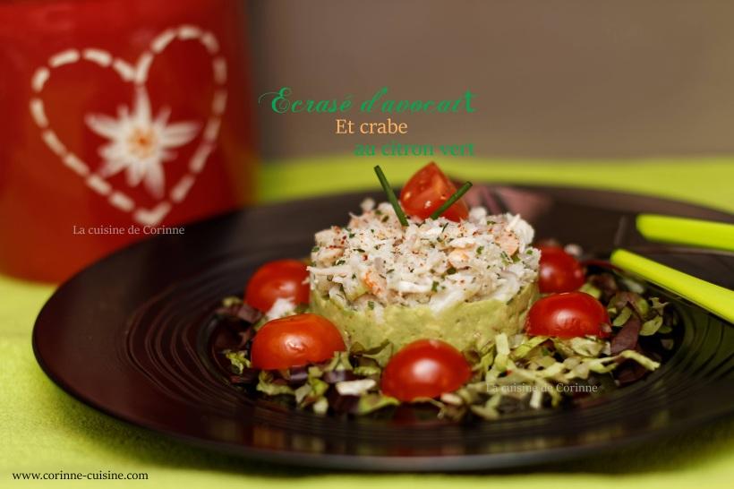 Avocat et crabe