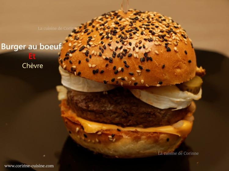 burger bœuf et chèvre