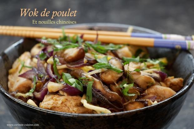 Wok poulet et nouilles