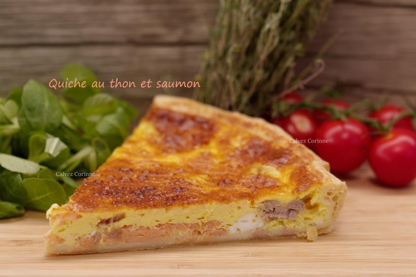 Quiche thon et saumon
