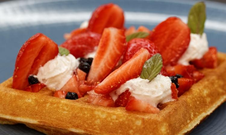 Gaufre aux fraises - Corinne diététicienne nutritionniste - Viry - Annemasse